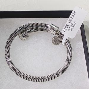Alex and Ani Silver Drift Vt 66 Wrap Bracelet NWT